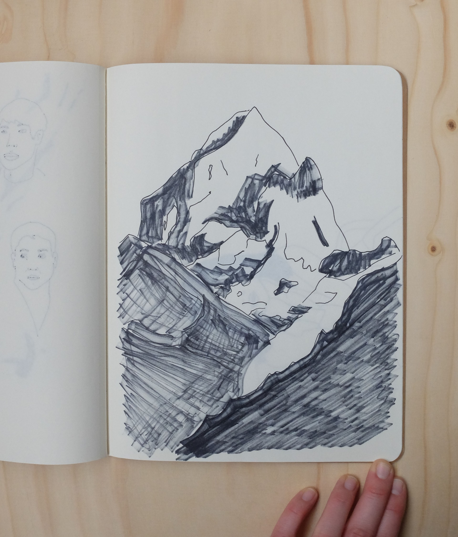Nadia de Donno cahier esquisse